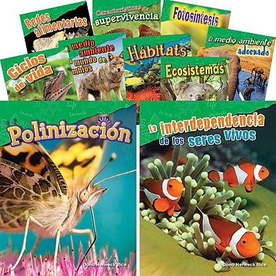 Teacher Created Materials Let's Explore Life Science, Grades 2-3 Spanish, 10-Book Set (29605)