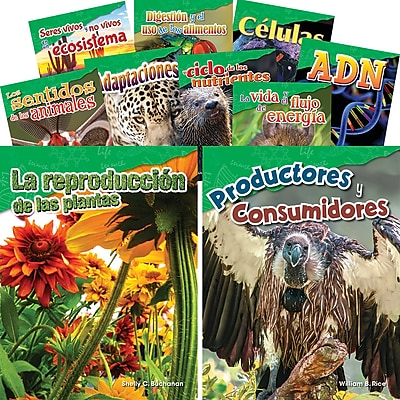 Teacher Created Materials Let's Explore Life Science, Grades 4-5 Spanish, 10-Book Set (29608)