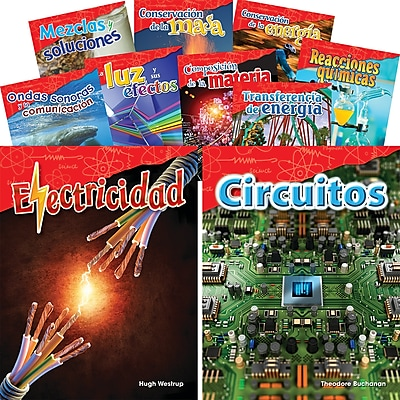 Teacher Created Materials Let's Explore Physical Science, Grades 4-5 Spanish, 10-Book Set (29610)