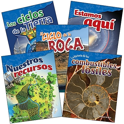 Teacher Created Materials Earth and Space Science, Grade 4 Spanish, 5-Book Set (29612)