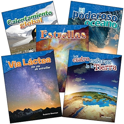Teacher Created Materials Earth and Space Science, Grade 5 Spanish, 5-Book Set (29613)