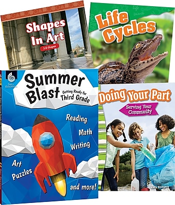 Teacher Created Materials Learn-at-Home Third, Grade, 4-Book Set (29752)