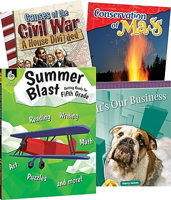 Teacher Created Materials Learn-at-Home Fifth, Grade 4-Book Set (29754)