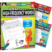 Teacher Created Materials 180 Days of High Frequency Words for K-2, 3-Book Set (51718)
