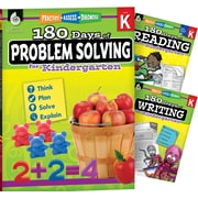 Teacher Created Materials 180 Days 3 Book Bundle - Reading, Writing & Problem Solving, Grade K (51761)