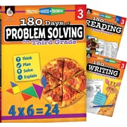 Teacher Created Materials 180 Days 3 Book Bundle - Reading, Writing & Problem Solving, Grade 3 (51764)