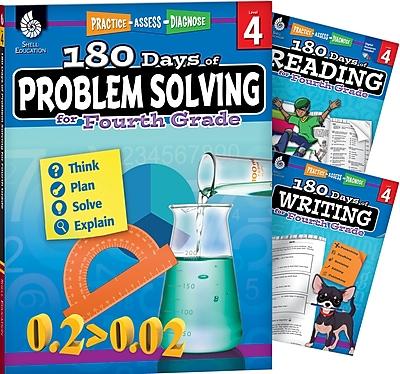 Teacher Created Materials 180 Days 3 Book Bundle - Reading, Writing & Problem Solving, Grade 4 (51765)