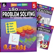 Teacher Created Materials 180 Days 3 Book Bundle - Reading, Writing & Problem Solving, Grade 5 (51766)