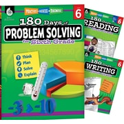 Teacher Created Materials 180 Days 3 Book Bundle - Reading, Writing & Problem Solving, Grade 6 (51767)