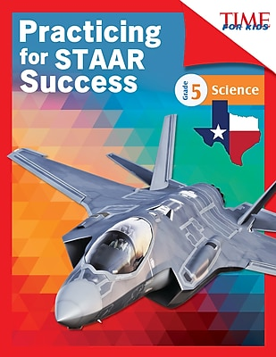 Teacher Created Materials Physical Book TIME FOR KIDS® Practicing for STAAR Success, Science, Grade 5 (51772)