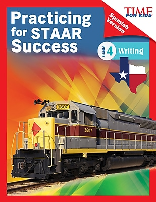 Teacher Created Materials Physical Book TIME FOR KIDS® Practicing for STAAR Success, Writing, Grade 4 (51775)