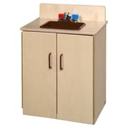 Wood Designs School Age Deluxe Sink with Brown Tray (10240BN)