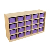Wood Designs 20 Tray Storage with Purple Trays (14509PP)