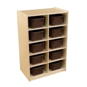 Wood Designs Vertical Storage with (10) Brown Trays (16102)
