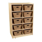 Wood Designs Vertical Storage with (10) Baskets (16109-718)
