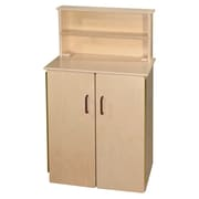 Wood Designs School Age Deluxe Hutch with Brown Handles (20740BN)