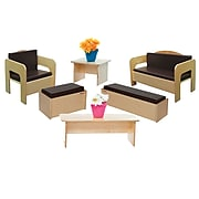 Wood Designs Children's Furniture set of (6) with Brown Cushions (31690BN)