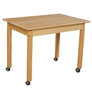 "Wood Designs Mobile 24"" x 36"" Rectangle Hardwood Table with 24"" Legs (82324C6)"