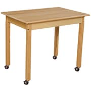 """Wood Designs Mobile 24"""" x 36"""" Rectangle Hardwood Table with 26"""" Legs (82326C6)"""