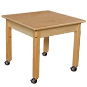 """Wood Designs Mobile 24"""" Square Hardwood Table with 18"""" Legs (82418C6)"""