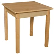 "Wood Designs 24"" Square Hardwood Table with 24"" Legs (82424)"