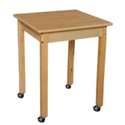 """Wood Designs Mobile 24"""" Square Hardwood Table with 29"""" Legs (82429C6)"""