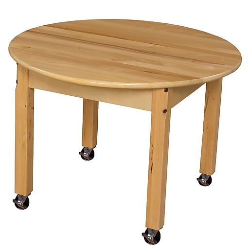 """Wood Designs Mobile 30"""" Round Hardwood Table With 18"""" Legs"""