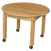"""Wood Designs Mobile 30"""" Round Hardwood Table with 20"""" Legs (83020C6)"""