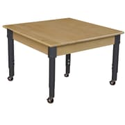 """Wood Designs Mobile 30"""" Square Hardwood Table with Adjustable Legs 14-19"""" (833A1217C6)"""