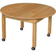 """Wood Designs Mobile 36"""" Round Hardwood Table with 20"""" Legs (83620C6)"""