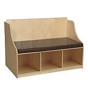 Wood Designs Reading Bench With Storage & Brown Cushion (990248BN)