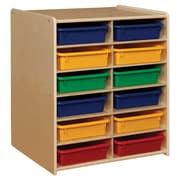 Contender™ 12 Letter Tray Cubby Storage with Assorted Trays - Assembled (C990659ATF)