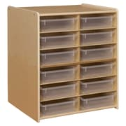 Contender™ 12 Letter Tray Cubby Storage with Translucent Trays - RTA (C990659CT)