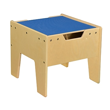 Contender 2-N-1 Activity Table with Blue LEGO Compatible Top - Assembled (C991300F-B)