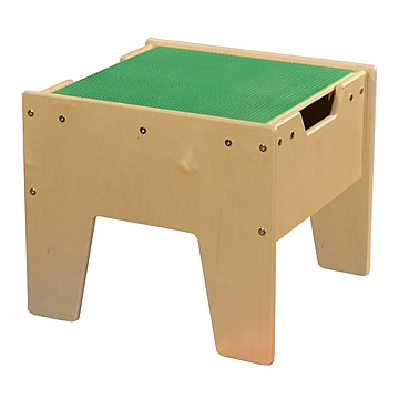 Contender 2-N-1 Activity Table with Green LEGO Compatible Top - RTA (C991300-G)