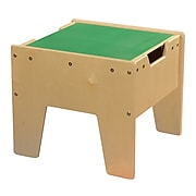 Contender™ 2-N-1 Activity Table with Green LEGO™ Compatible Top - RTA (C991300-G)