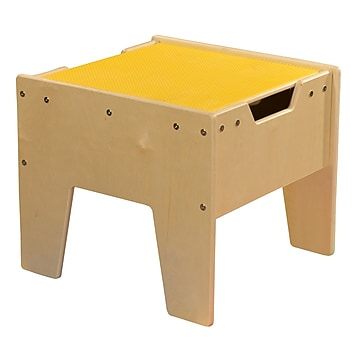 Contender 2-N-1 Activity Table with Yellow LEGO Compatible Top - RTA (C991300-Y)