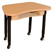 "Wood Designs Mobile Synergy 18"" x 30"" High Pressure Laminate Desk with Adjustable Legs 14-19"""