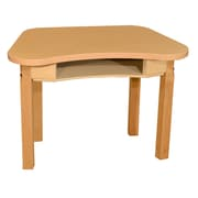 "Wood Designs Synergy 18"" x 30"" High Pressure Laminate Desk with Hardwood Legs- 20"""