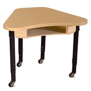 """Wood Designs Mobile Synergy 24"""" x 30"""" High Pressure Laminate Deep Desk with Adjustable Legs 14-19"""""""