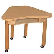 "Wood Designs Mobile Synergy 24"" x 30"" High Pressure Laminate Deep Desk with Hardwood Legs- 22"""
