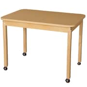 """Wood Designs Mobile 30"""" x 44"""" Rectangle High Pressure Laminate Table with Hardwood Legs-29"""" (HPL304429C6)"""