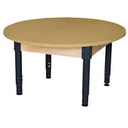 "Wood Designs 42"" Round High Pressure Laminate Table with Adjustable Legs 12""-17"" (HPL42RNDA1217)"
