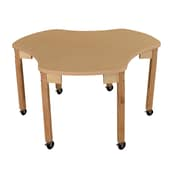 "Wood Designs Mobile Synergy Union 44"" x 48"" High Pressure Laminate Group Table with Hardwood Legs- 20"" (HPL4448C20C6)"