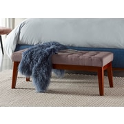 Elle Decor Claire Tufted Bench, Dusted Truffle (OTMCLRTRFM02)