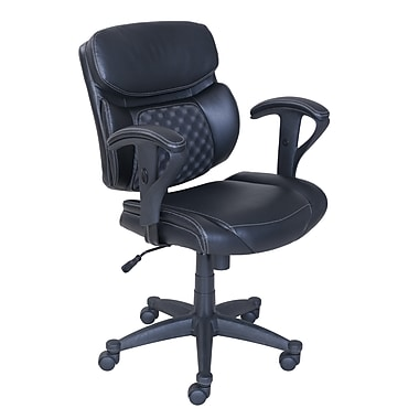 Serta Accucell Bonded Leather Task Chair Black 48109