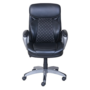 Serta Accucell Bonded Leather Manager S Chair Black 48110