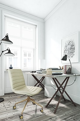 ELLE Decor Adelaide Fabric Task Chair, Ivory (CHR200013)