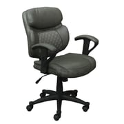 Serta Essentials Bonded Leather Computer Chair with Acucell Technology, Mindset Gray (CHR200061)