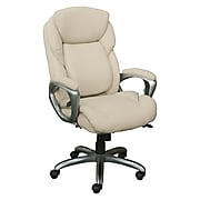 Serta Works My Fit Bonded Leather Executive Office Chair with Tailored Reach, Inspired Ivory (CHR200064)